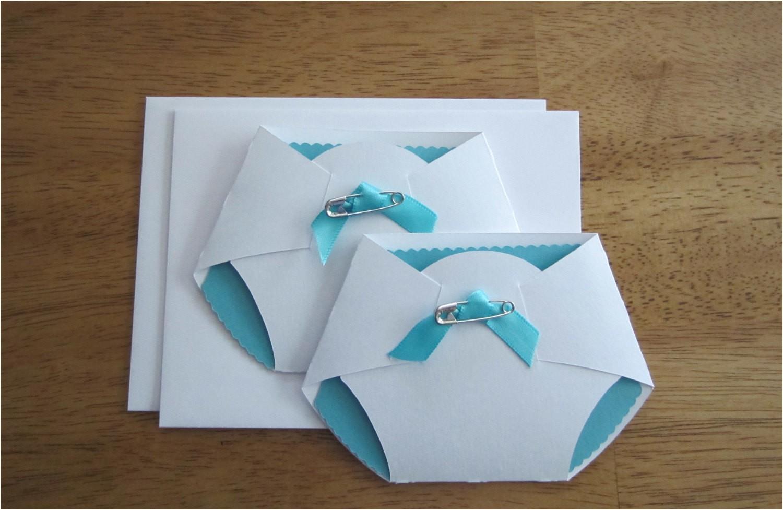 handmade baby shower invitation diaper