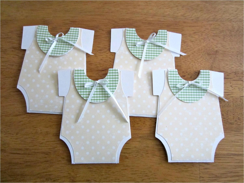 Unique Homemade Baby Shower Invitations Unique Handmade Baby Shower Invitation Esie Shape