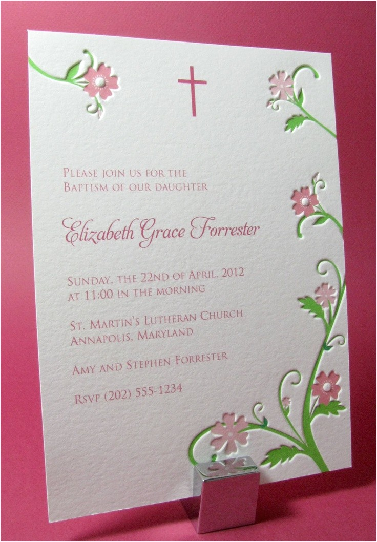 unique baptism invitations