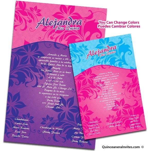 unique quinceanera invitations