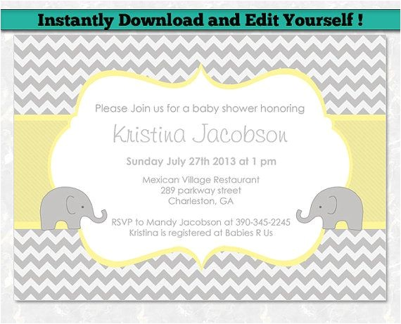 editable baby shower invitation templates