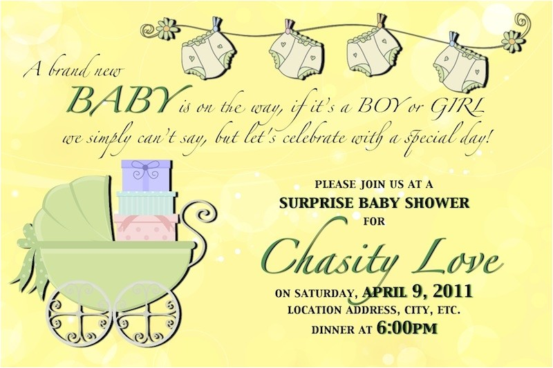 uni baby shower invites