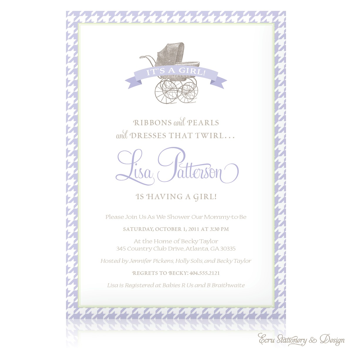 luxury baby shower invitation