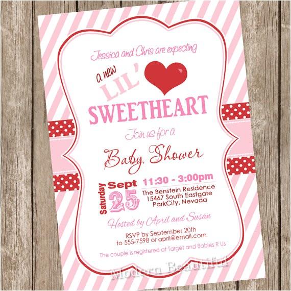 something new valentines day baby shower invitations