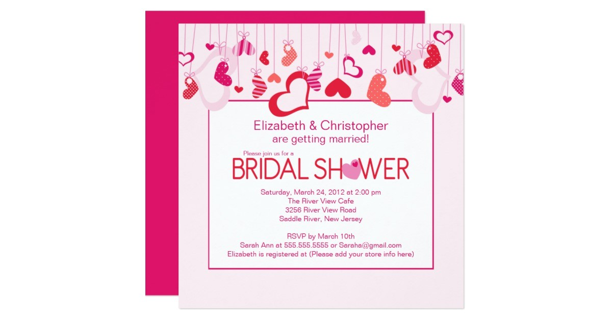 modern valentine hearts bridal shower invitation 161866280793837637