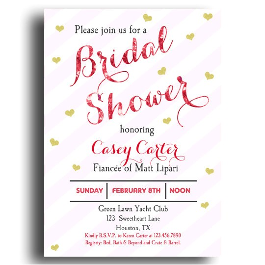 valentine bridal shower invitation printable love