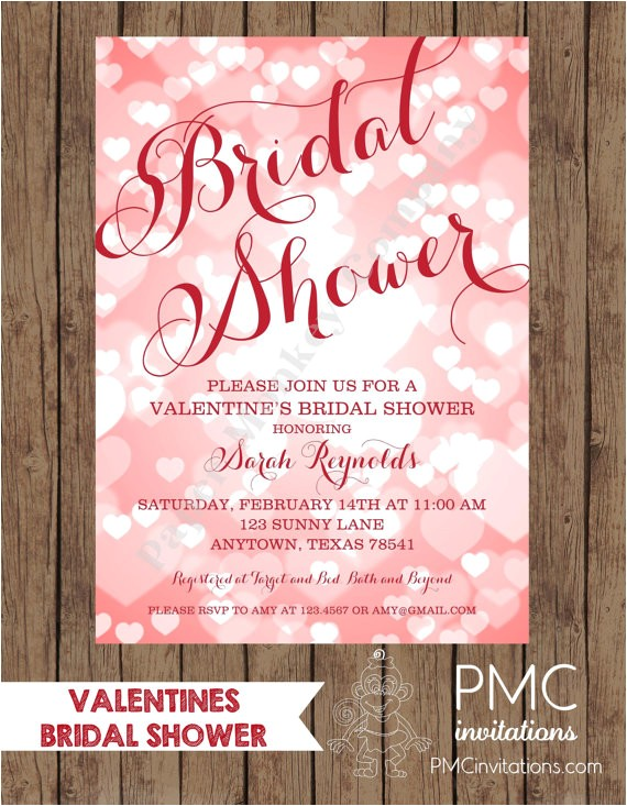 sale valentines bridal shower invitations envelope 2