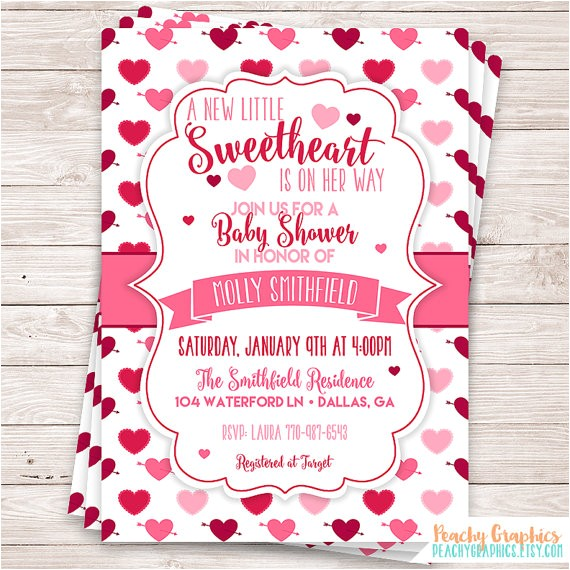printable little sweetheart baby shower
