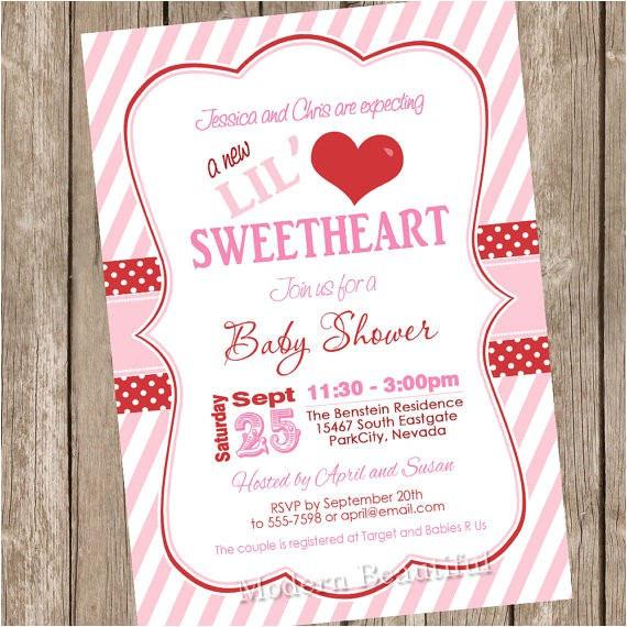 something new valentines day baby shower invitations