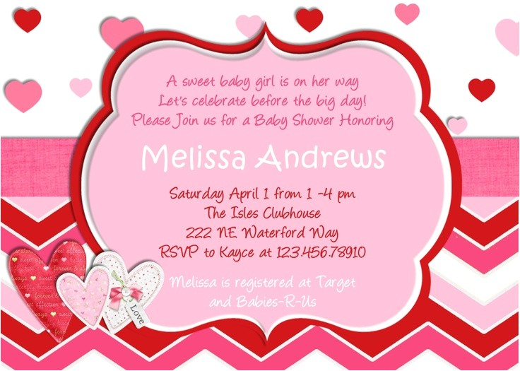 valentines day baby shower