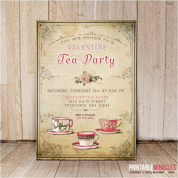 valentines day invitations vintage style