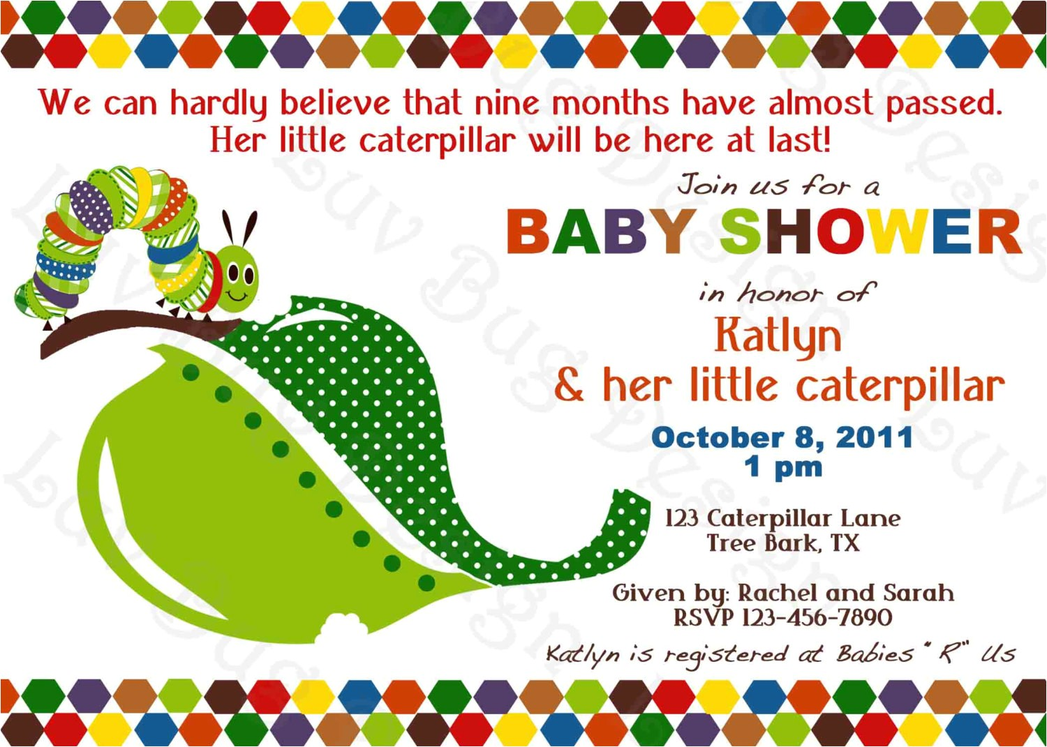 baby shower invitations hungry