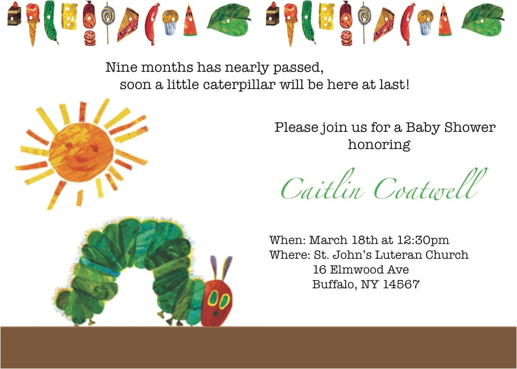 very hungry caterpillar baby shower