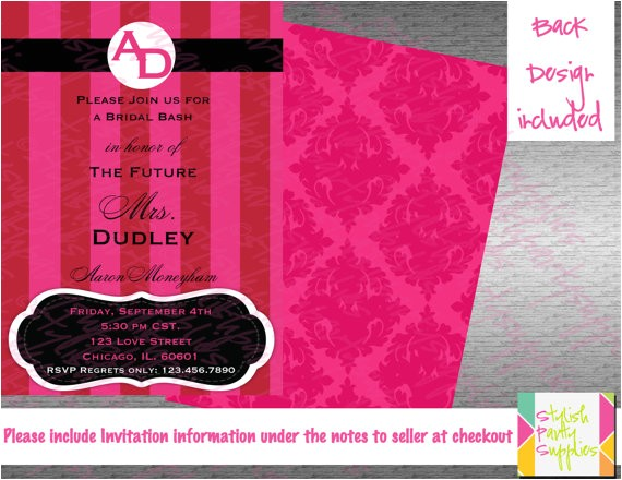 Victoria Secret Bridal Shower Invitations Victoria Secret Inspired Bridal Shower Invitation