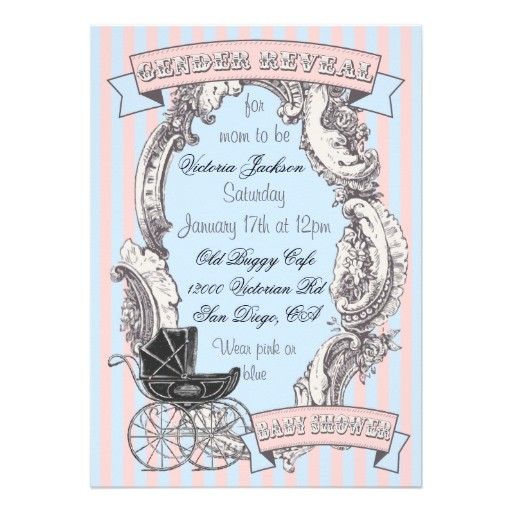 victorian baby shower invitations