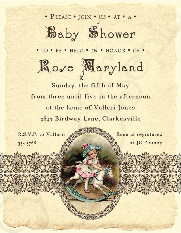 victorian baby showers