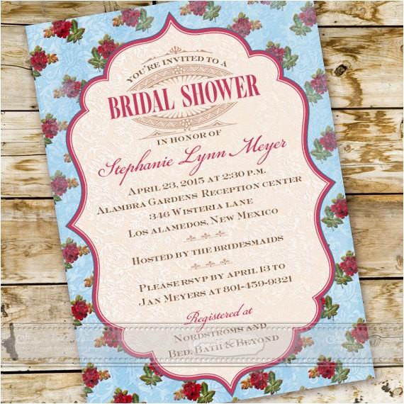 bridal shower invitations victorian