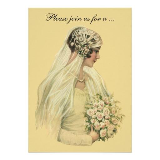 vintage victorian bride bridal shower invitation