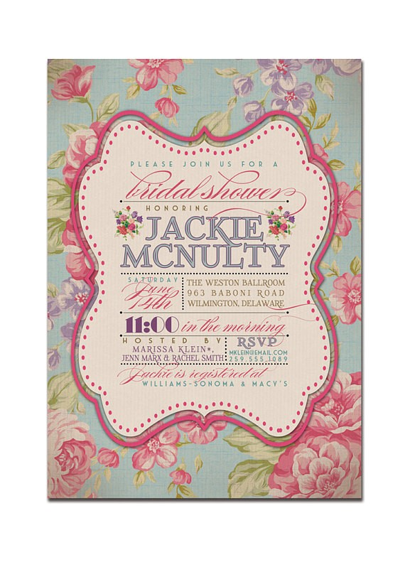 bridal shower invitation vintage rustic