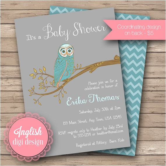 vintage owl baby shower invitation vintage