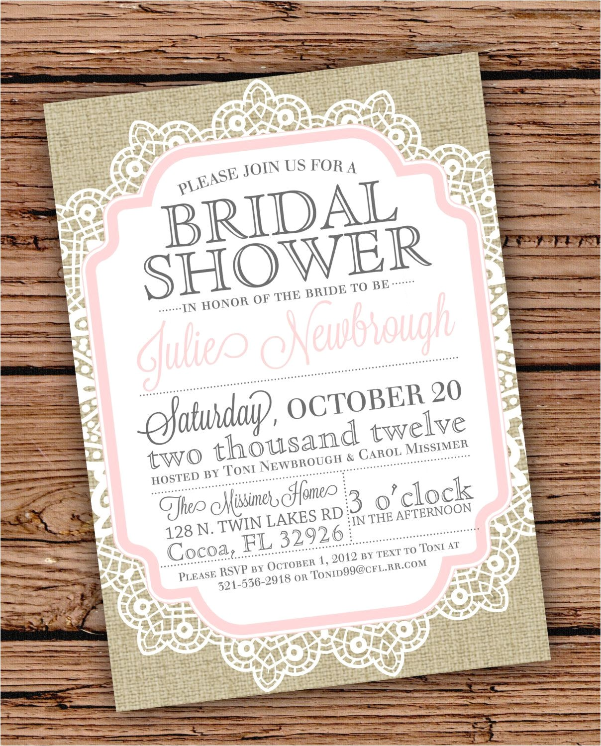 10 stirring vintage wedding shower invitations with unique font
