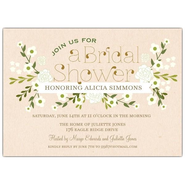 bridal shower invitations vintage style
