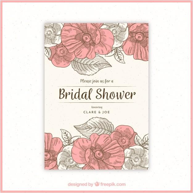floral bridal shower invitation in vintage style