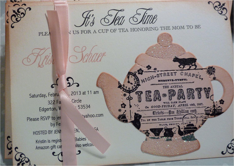 bridal shower tea party invitation sayings