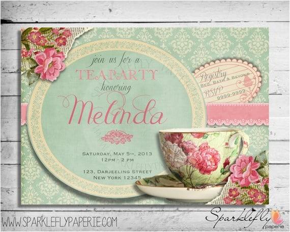 Vintage Tea Party Invitations Free Free Vintage Tea Party Invitation