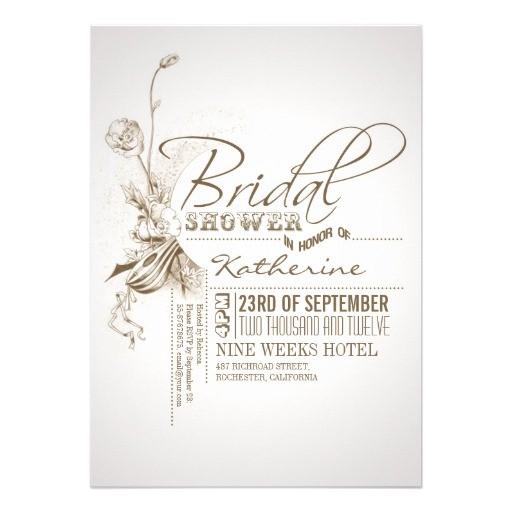 free vintage bridal shower invitations