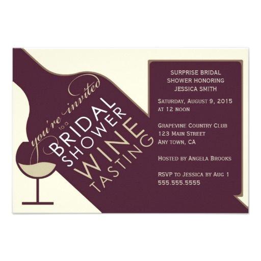 Vintage themed Bridal Shower Invitations Vintage Wine themed Bridal Shower Invitations