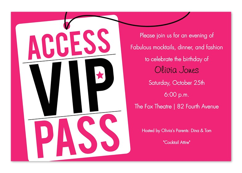 vip pass invitation template 94997 692307692
