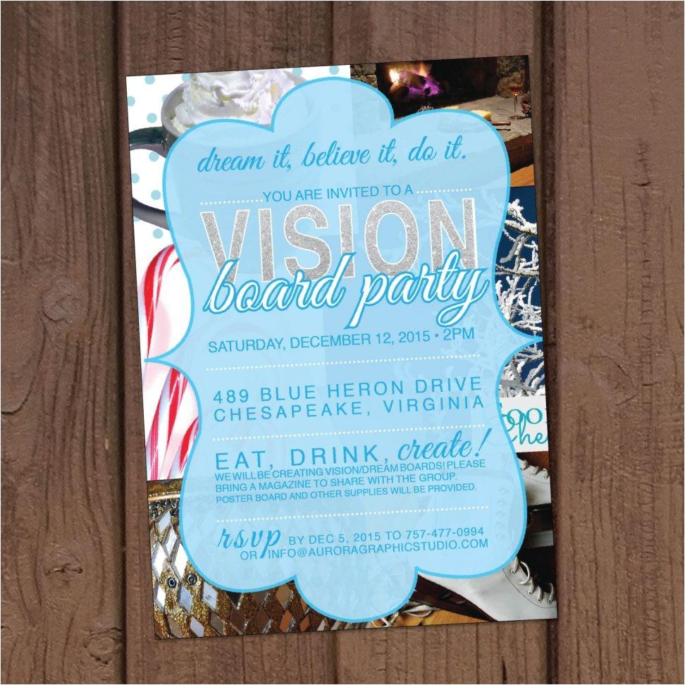 vision board party invitation