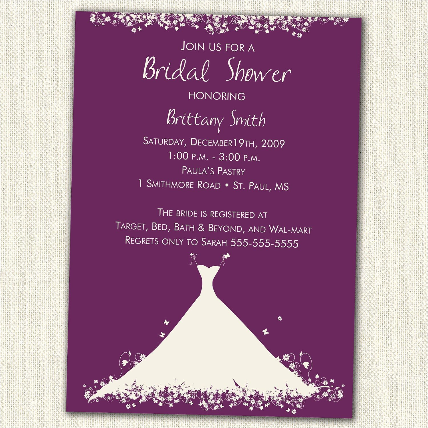 vista print wedding shower invitations