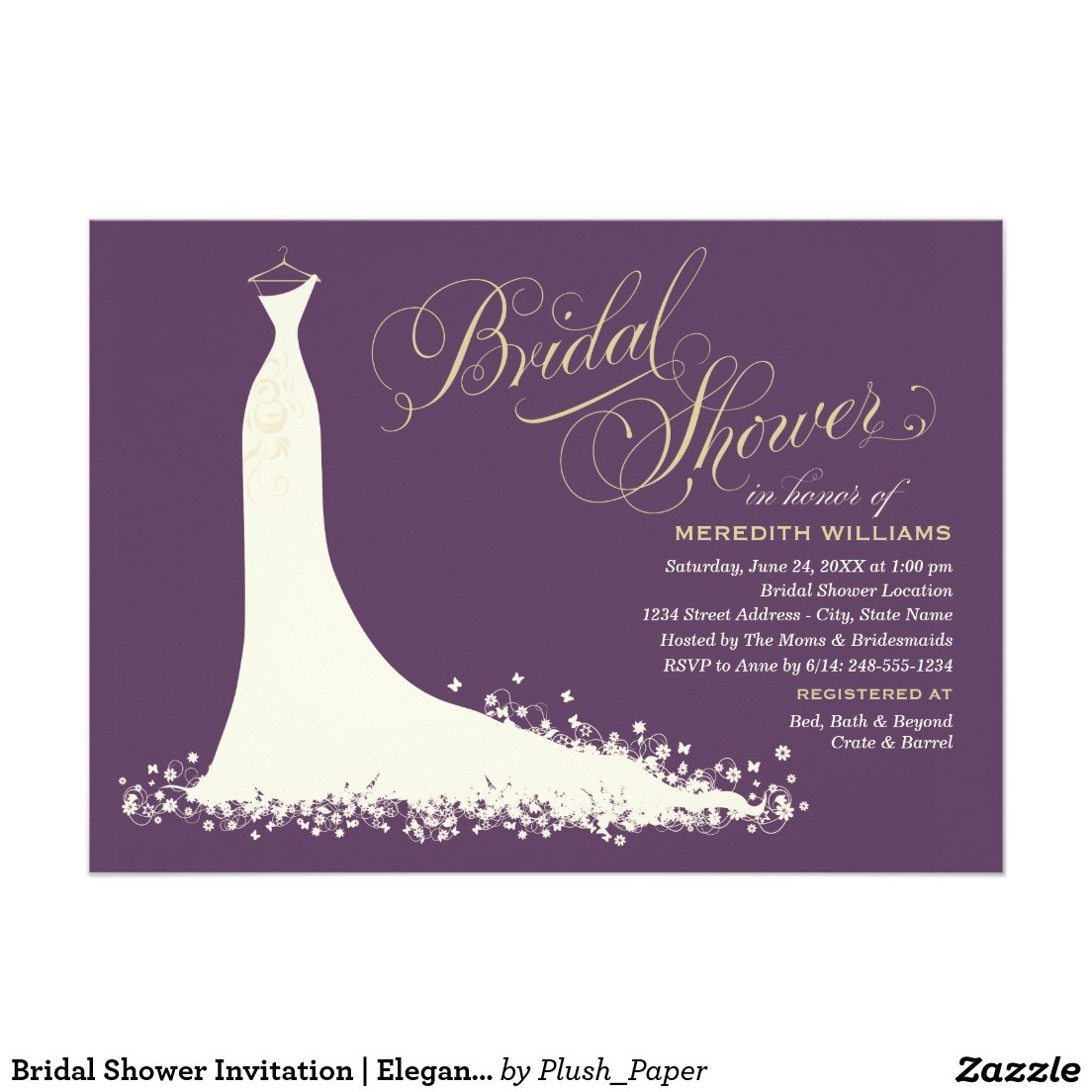 vistaprint bridal shower invites