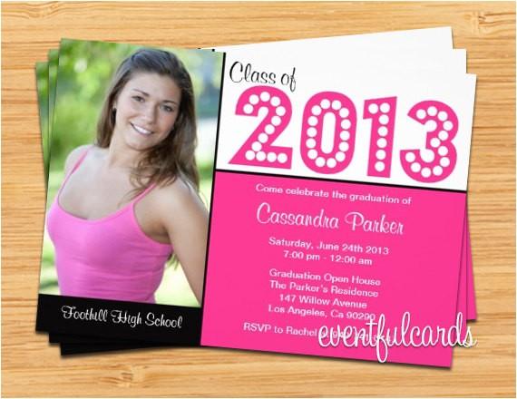 class of 2013 graduation invitation