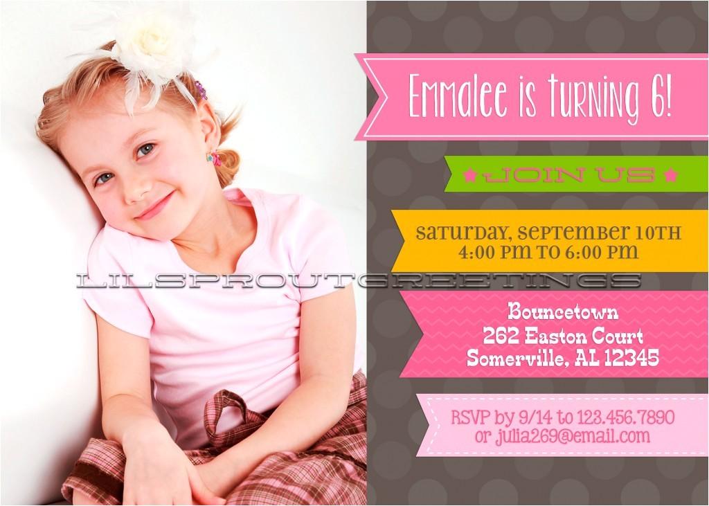 example design photo birthday invitations
