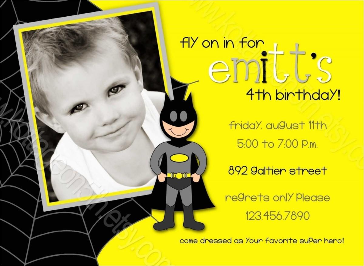 batman birthday invitations walmart