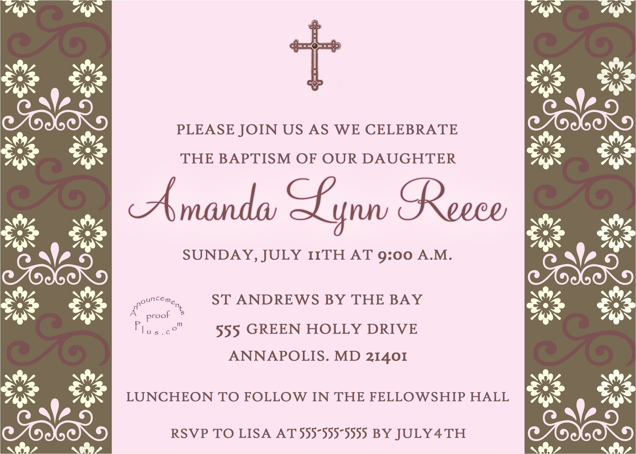 walmart baptism invitations