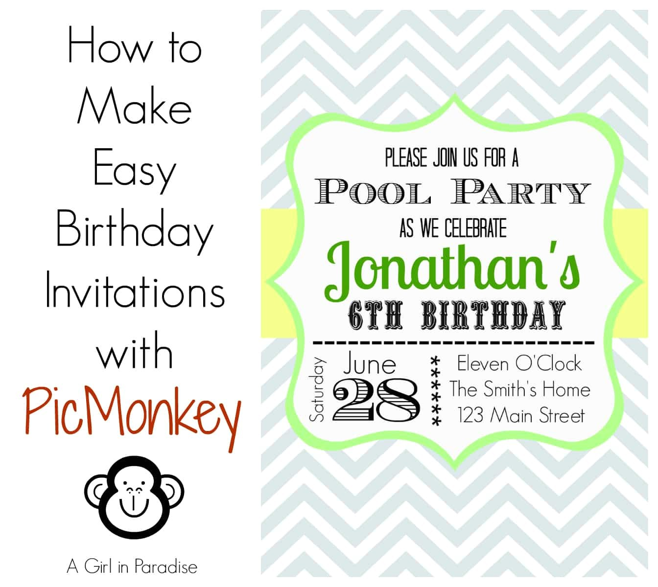 unique ideas for make birthday invitations templates