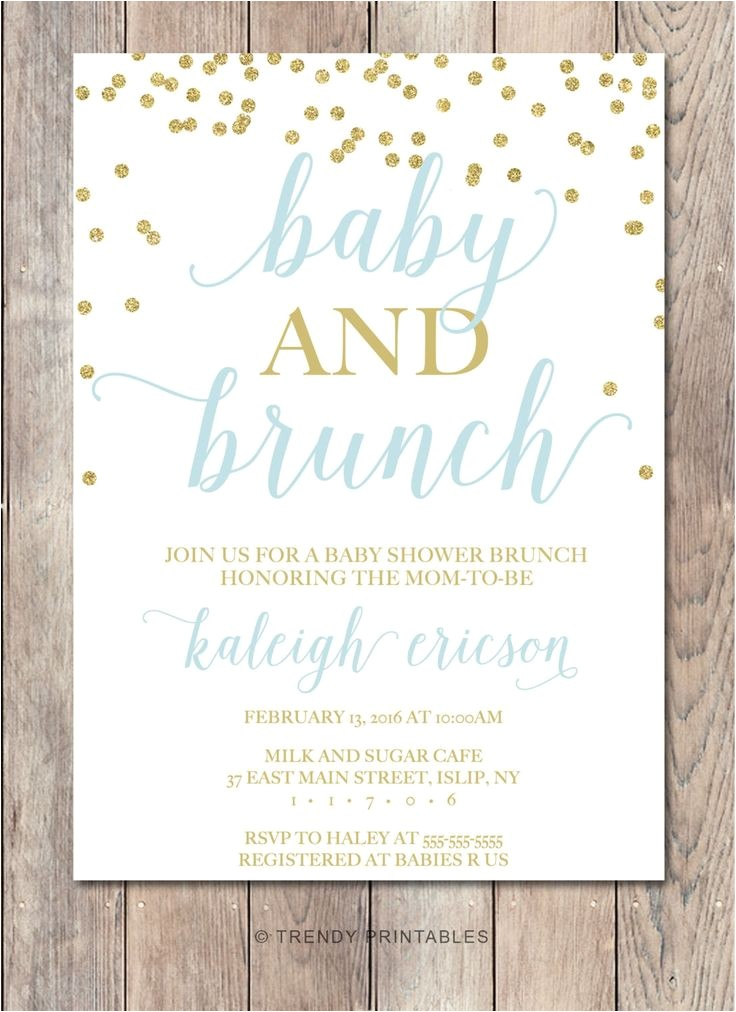 baby and bridal shower bined invitations