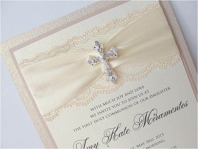 lace wedding invite lace wedding invitation lace invite vintage invitation munion invite baptism invitation munion triple