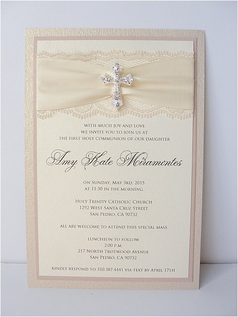 Wedding and Baptism Invitation Munion Lace Wedding Invitations Glitter Wedding