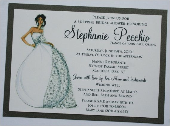 bridal shower invitations diva