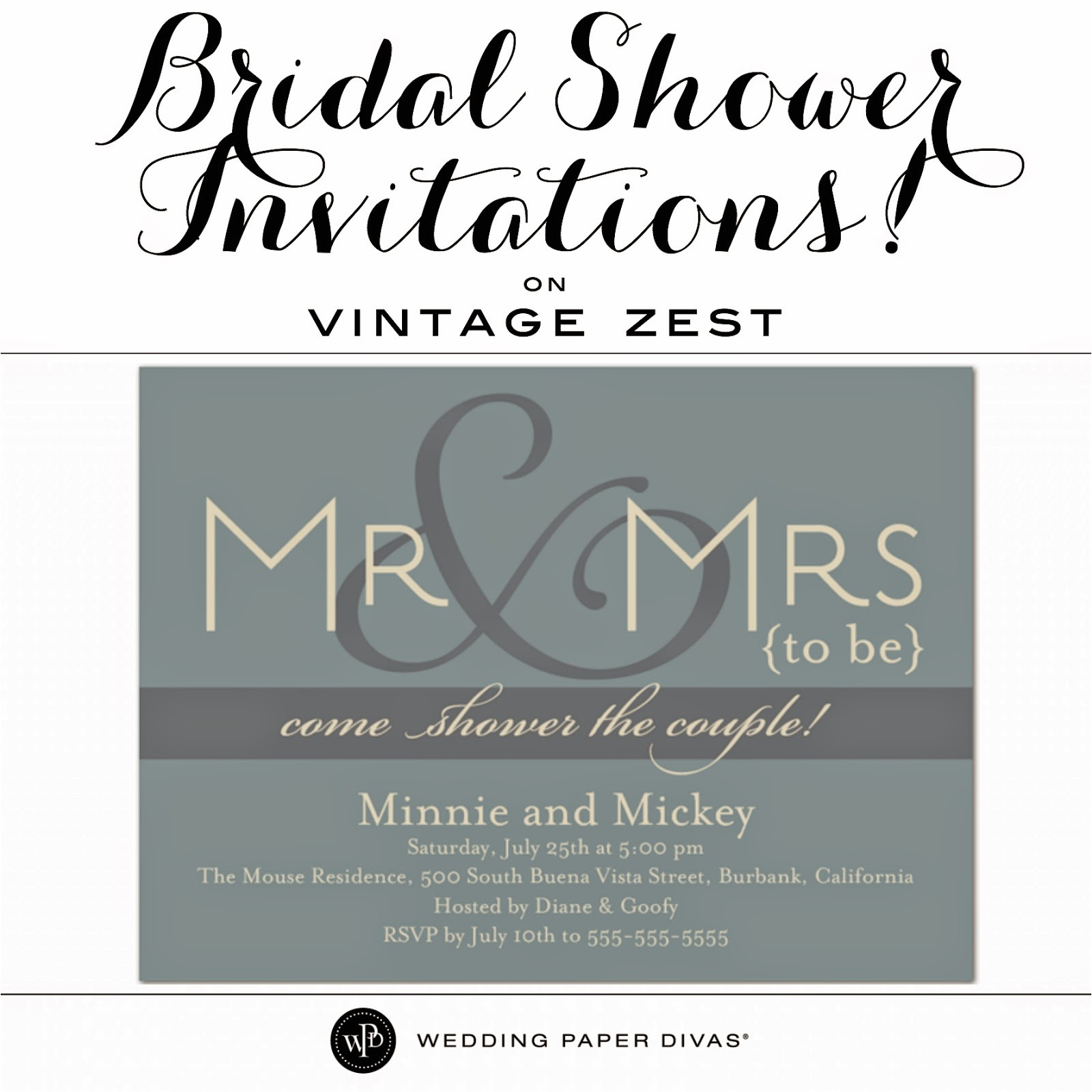 bridal shower invitations with wedding