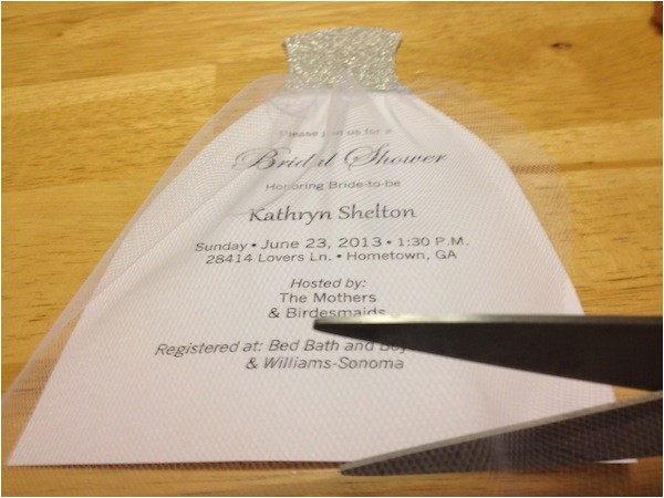 how to diy bridal shower invitations