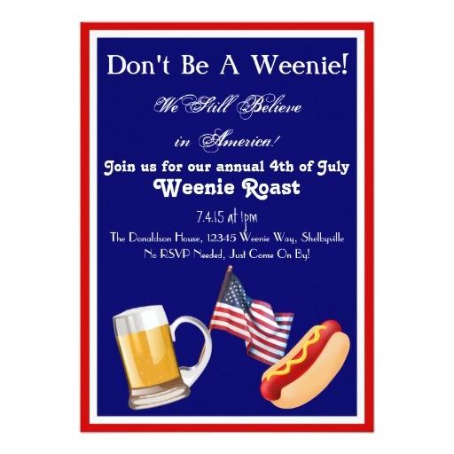 4th of july weenie roast invitations 256005941513976689