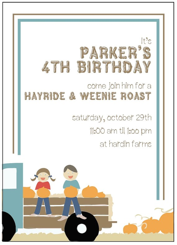 diy printable hayride weenie roast party