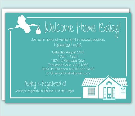 custom wel e home baby shower