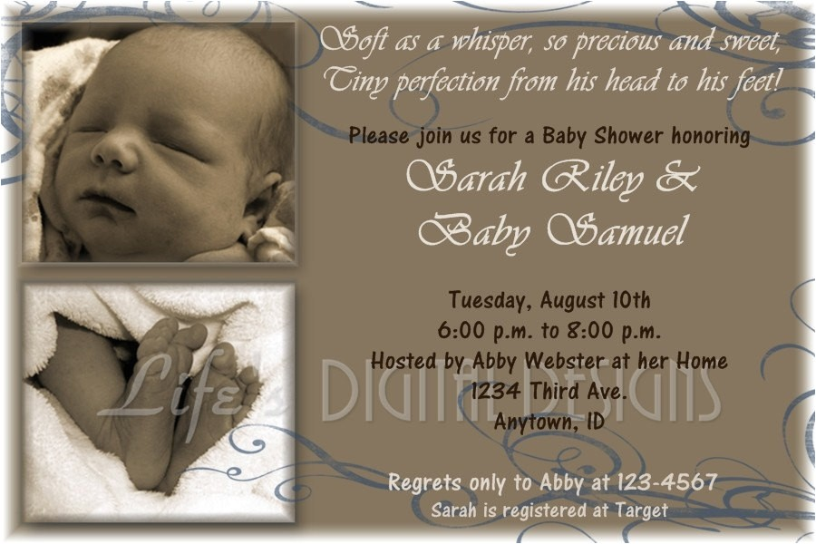 wel e baby shower invitations